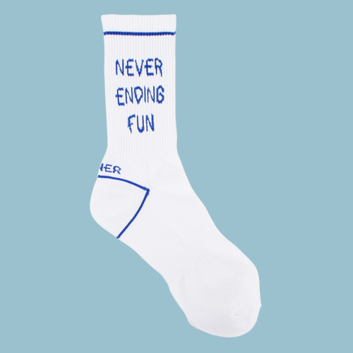 [로너] NEVER ENDING FUN SOCKS-BLUE