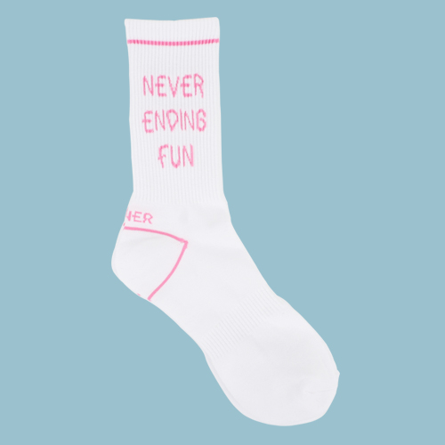 [LONER SEASON OFF SALE] NEVER ENDING FUN SOCKS-PINK (기간한정 01.17 - 01.23)