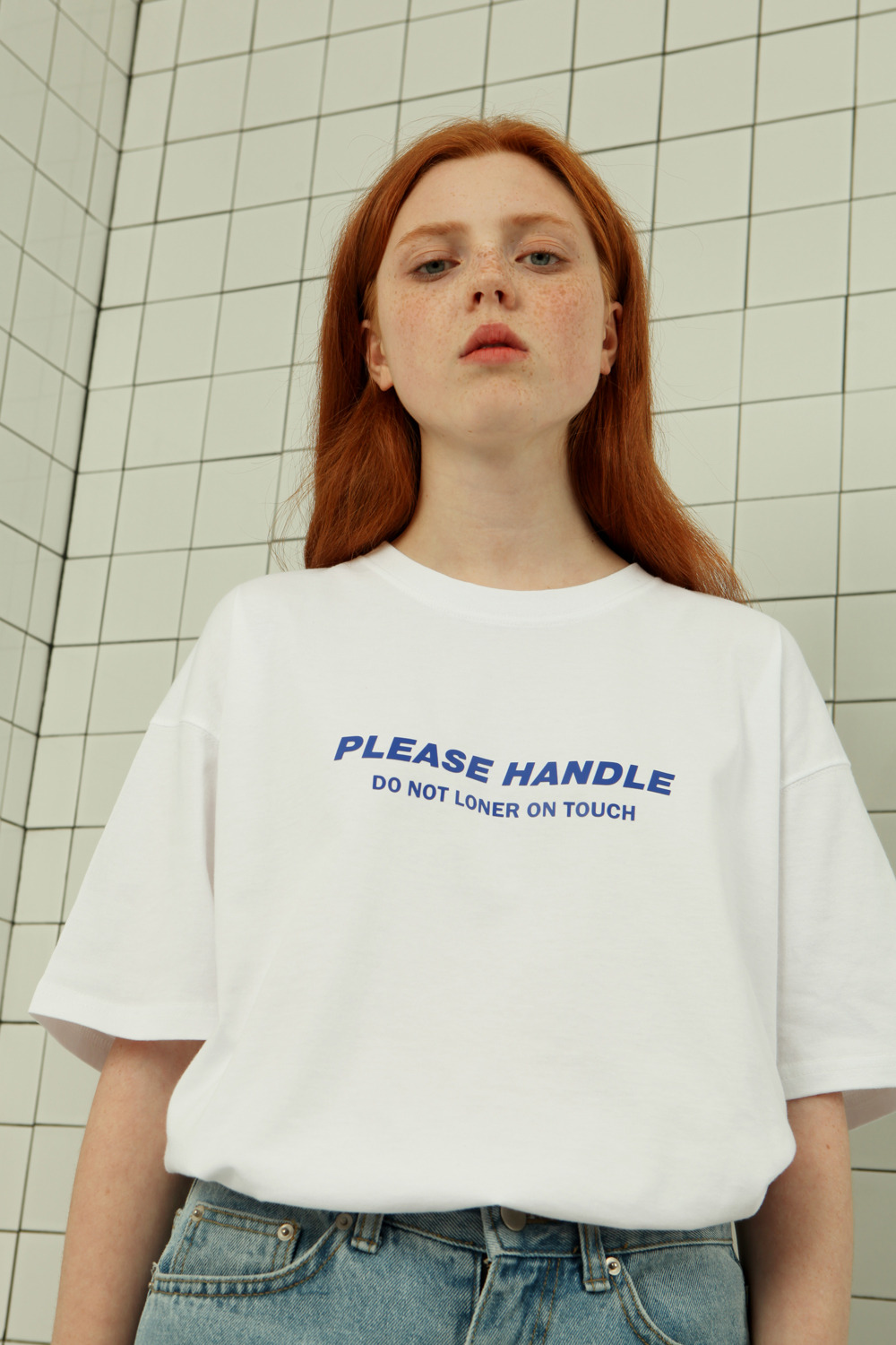 Please handle tshirt-white (기간한정 09.11 - 09.17)