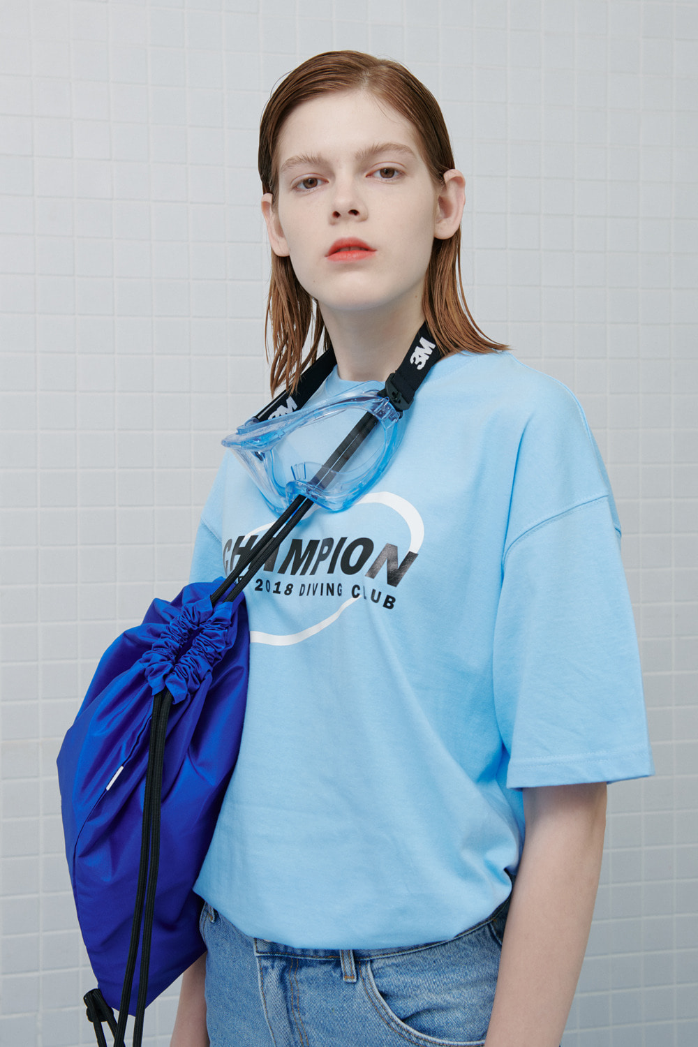 Circle diver tshirt-light blue (기간한정 09.11 - 09.17)
