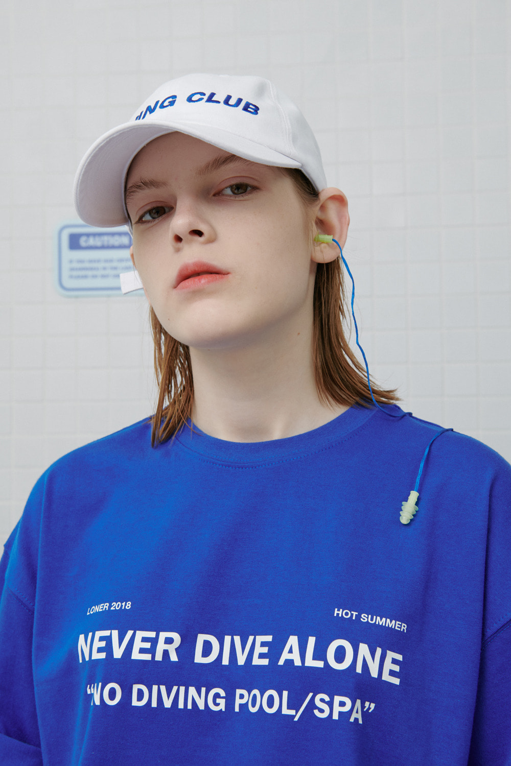 Never dive tshirt-blue (기간한정 09.11 - 09.17)