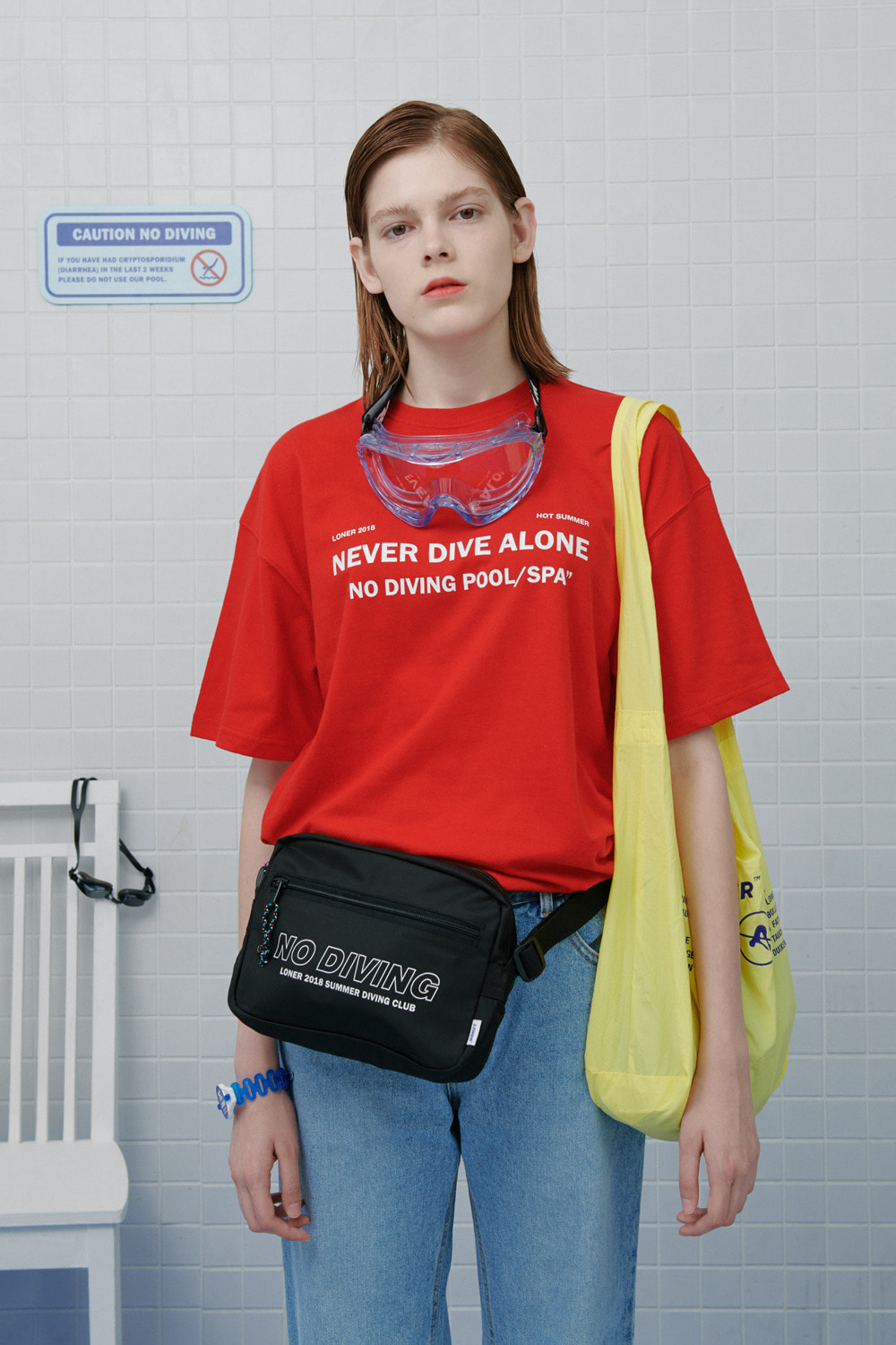 Never dive tshirt-red (기간한정 09.11 - 09.17)