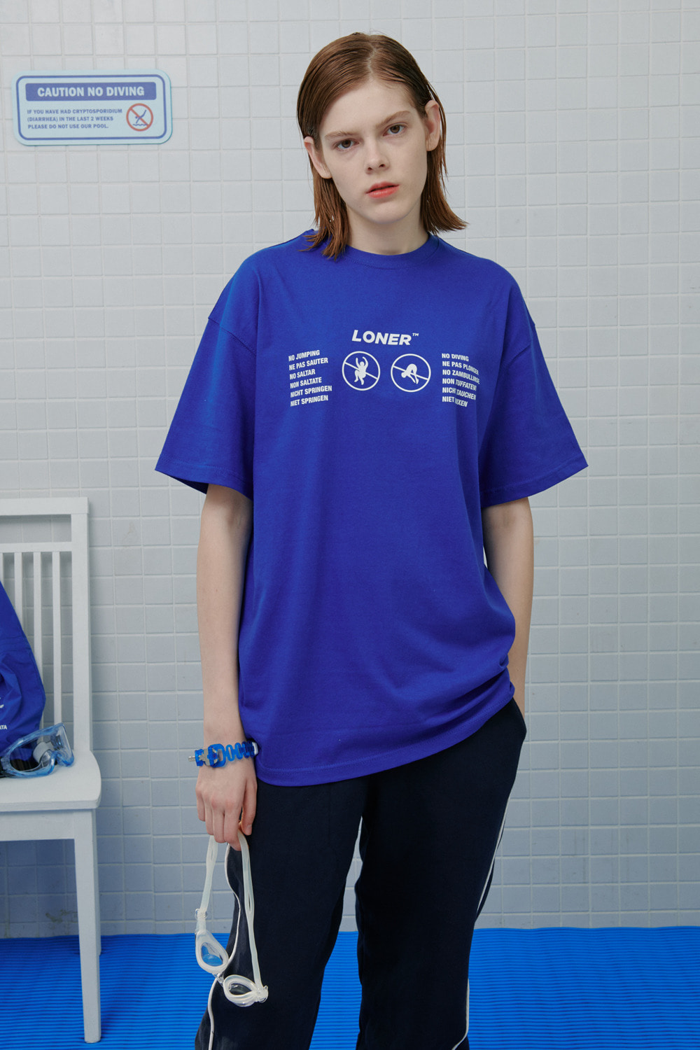 No jumping tshirt-blue (기간한정 09.11 - 09.17)