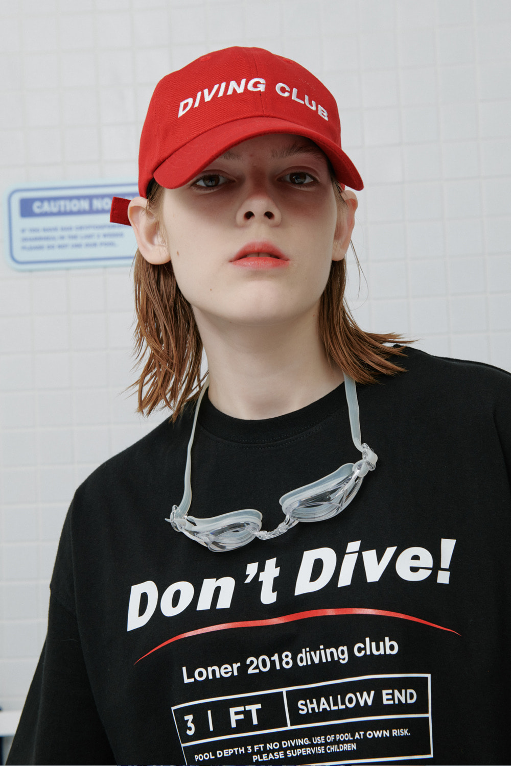 Diving club cap-red (기간한정 09.11 - 09.17)