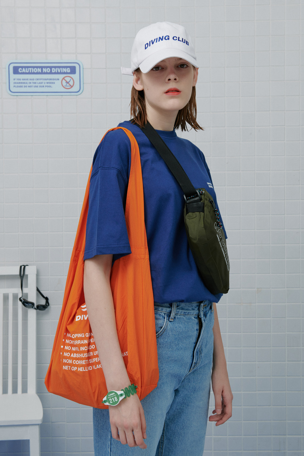 Diving club shopping bag-orange (기간한정 09.11 - 09.17)
