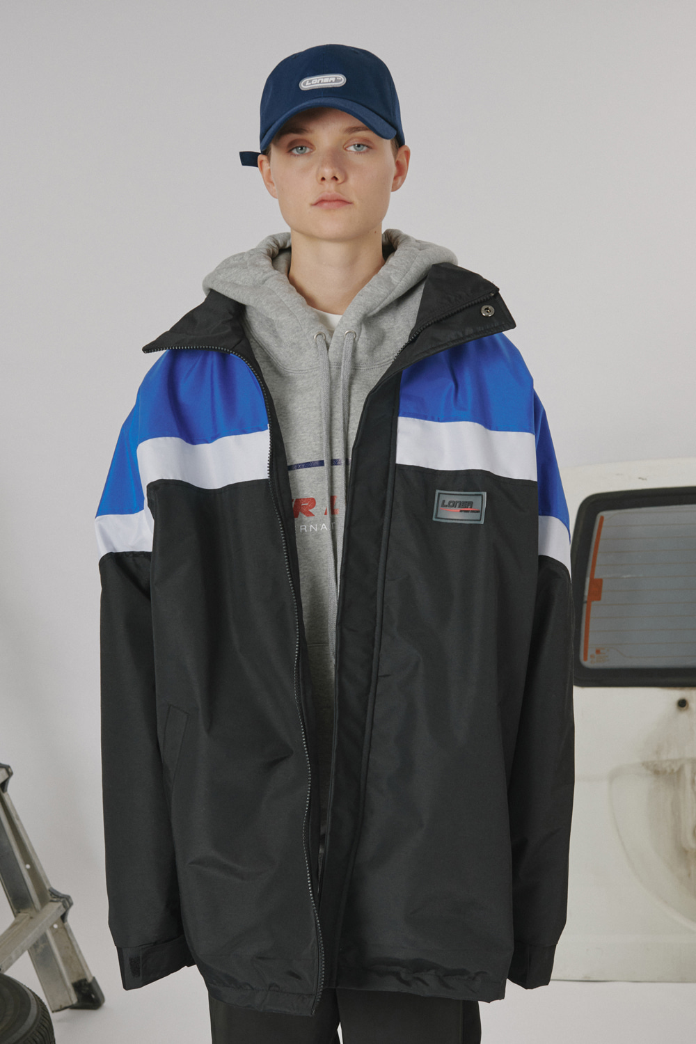 Racer wind breaker-black