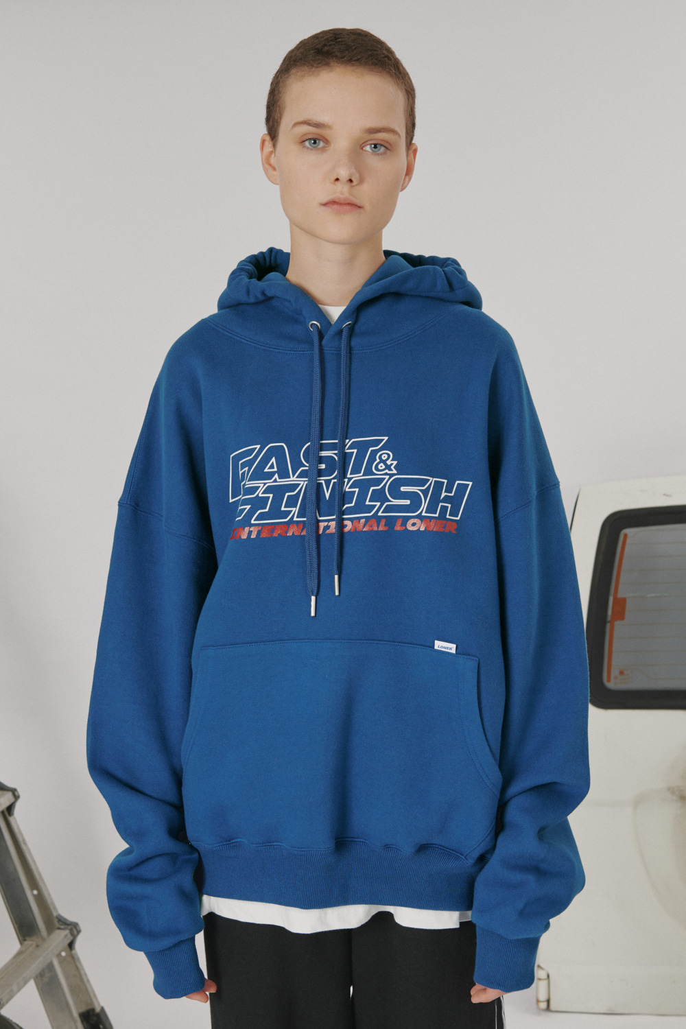 [LONER SEASON OFF SALE] Fast and finish hoodie_blue (기간한정 05.15 - 05.21)