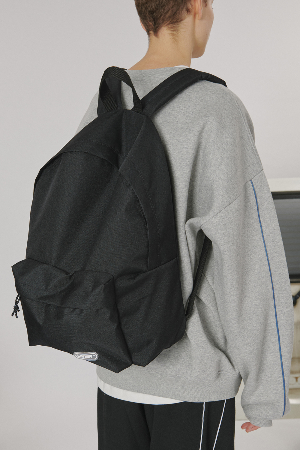 Rubber logo backpack_black (기간한정 09.11 - 09.17)