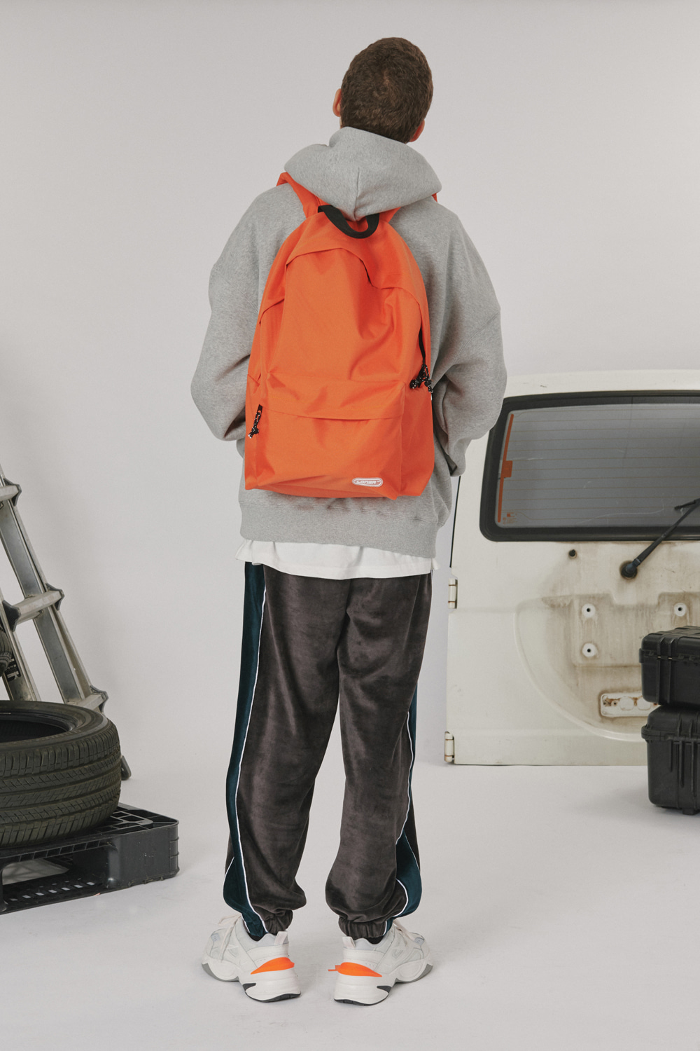 Rubber logo backpack_orange (기간한정 07.17 - 07.23)