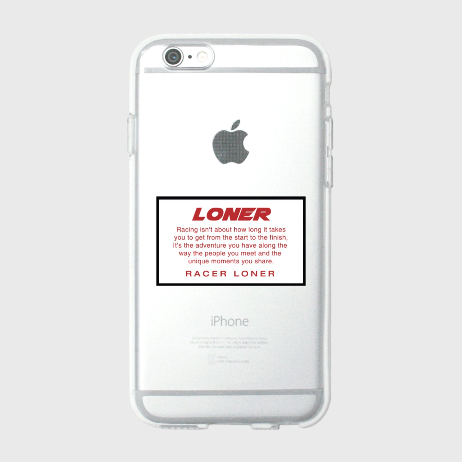 Racer loner-white(jelly case) (기간한정 09.11 - 09.17)