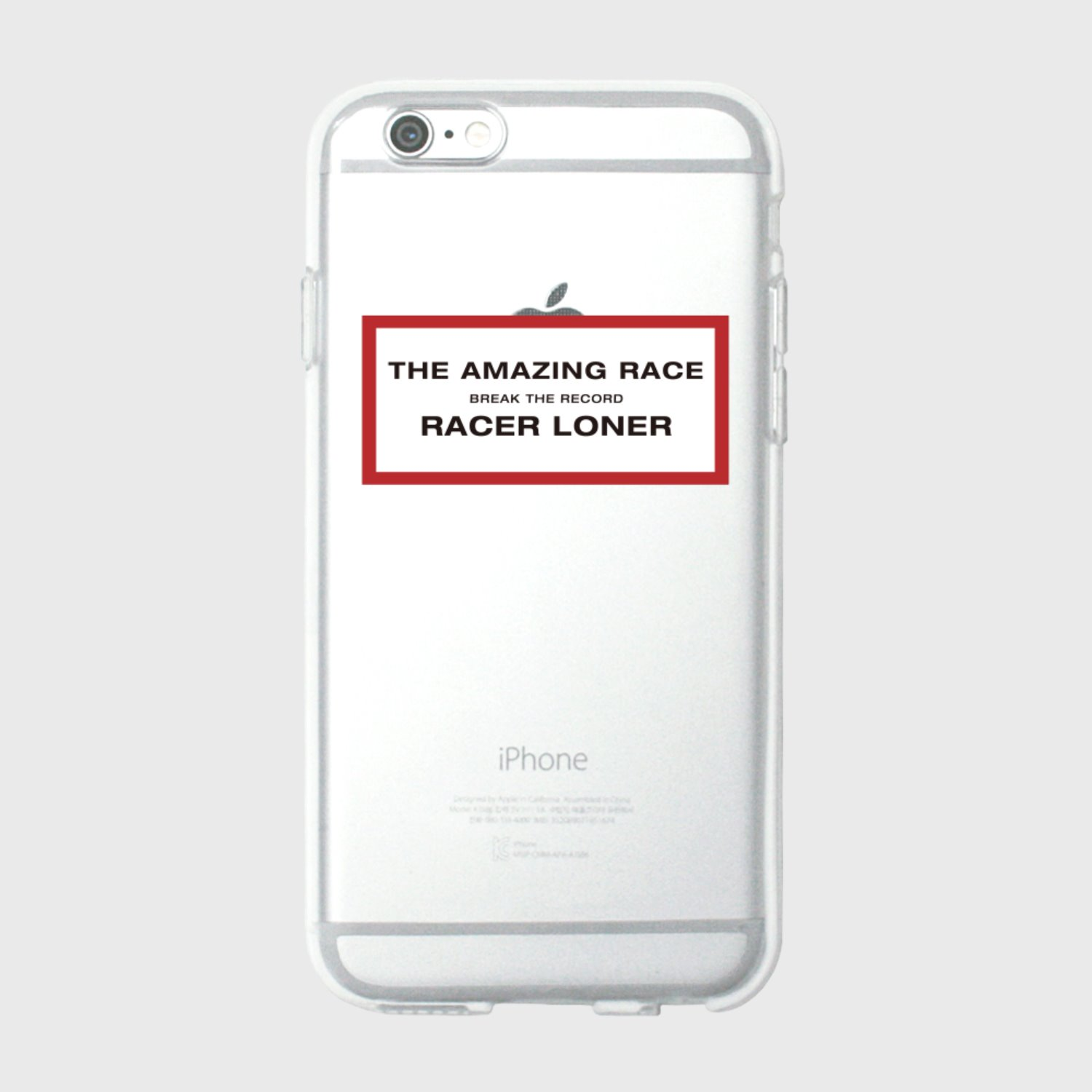 The amazing race-red(jelly case) (기간한정 09.11 - 09.17)
