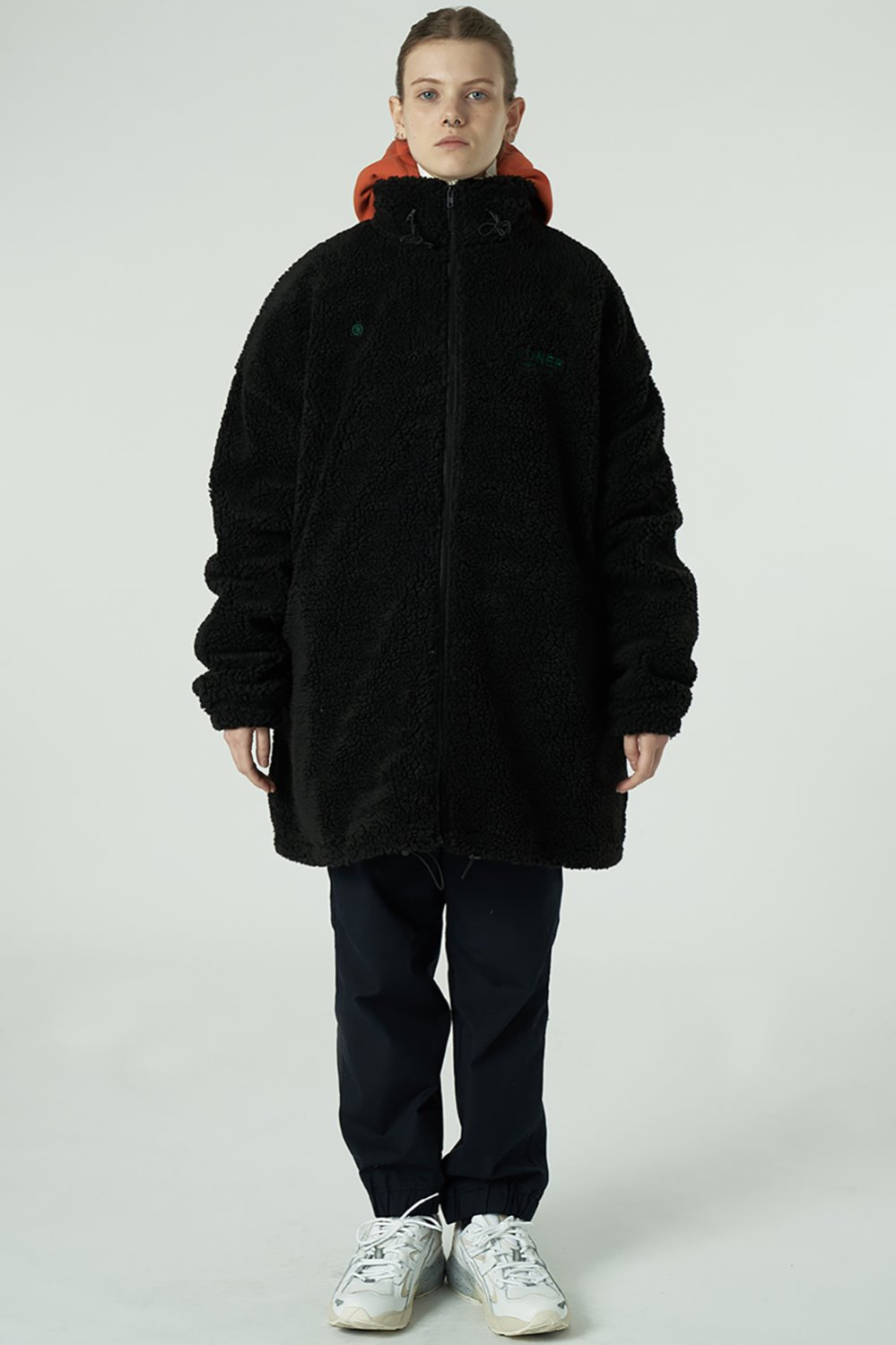 [20SS OPEN SALE][L] Gmt long fleece jacket-black (기간한정 02.21 - 02.27)