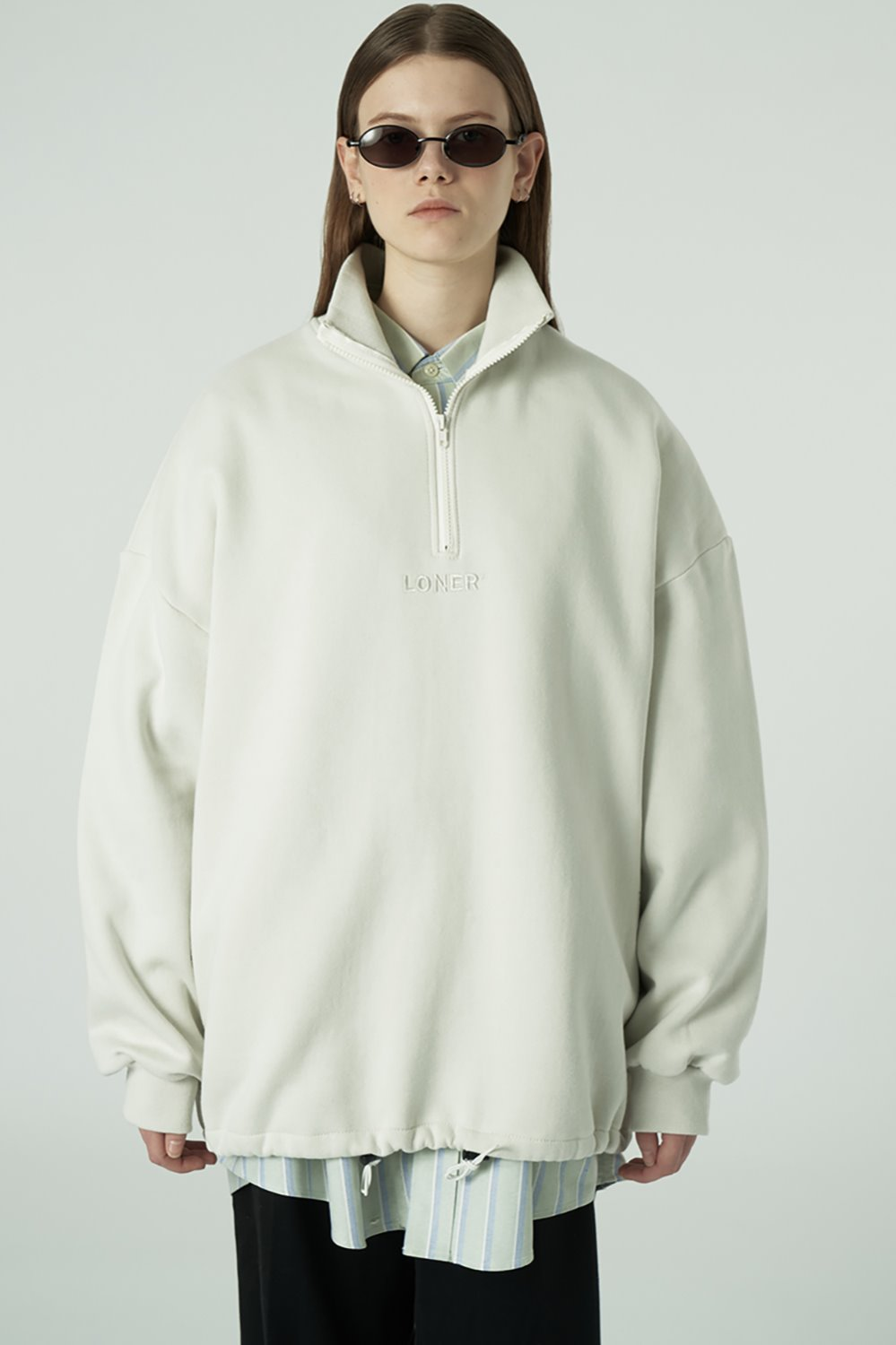 [20SS OPEN SALE][L] Center logo anorak-light beige (기간한정 02.21 - 02.27)