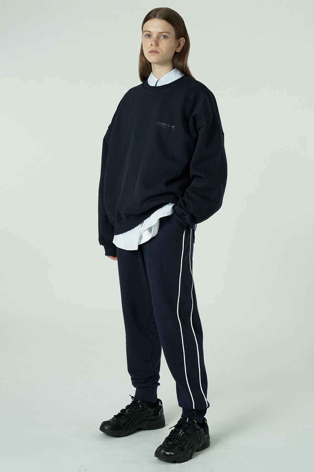 [20SS OPEN SALE][L] Gmt jogger pants-navy (기간한정 02.21 - 02.27)