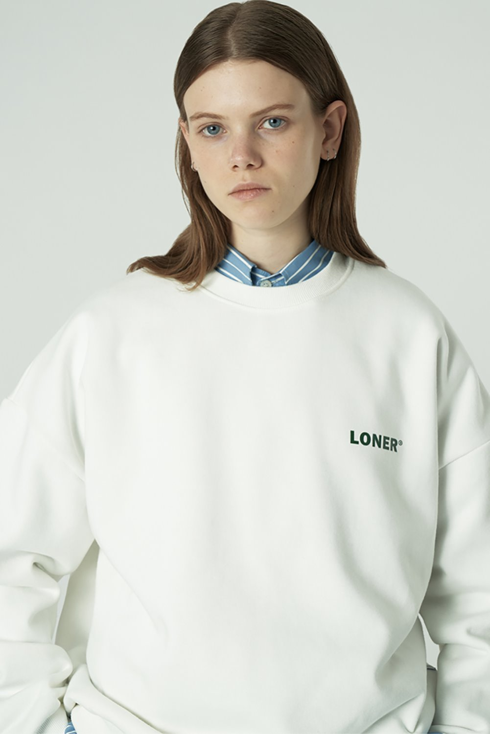[20SS OPEN SALE][L] Basic gmt sweatshirt-white (기간한정 04.03 - 04.09)