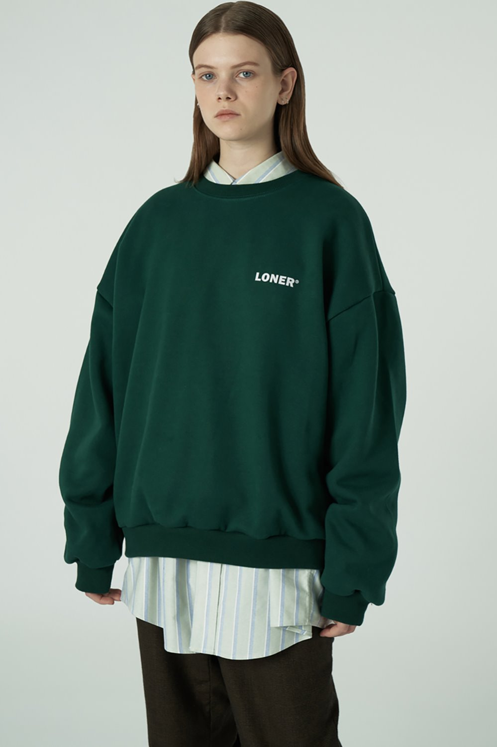 [20SS OPEN SALE][L] Basic gmt sweatshirt-green (기간한정 04.03 - 04.09)