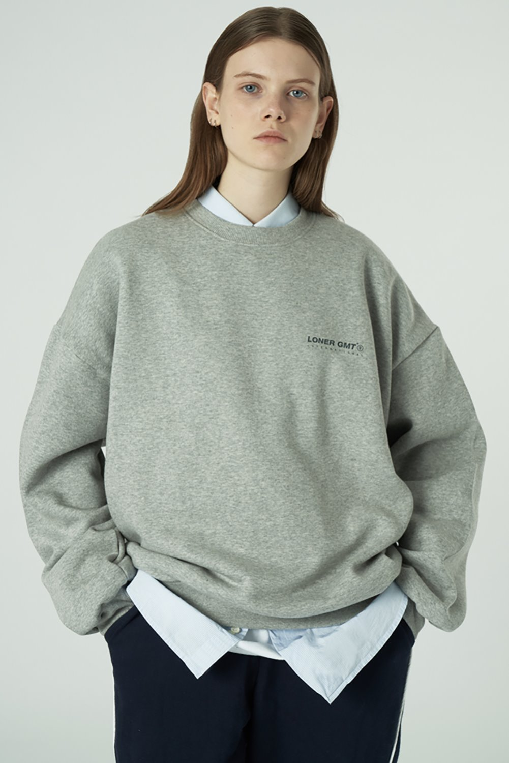 [20SS OPEN SALE][L] Gmt standard sweatshirt-grey (기간한정 02.21 - 02.27)