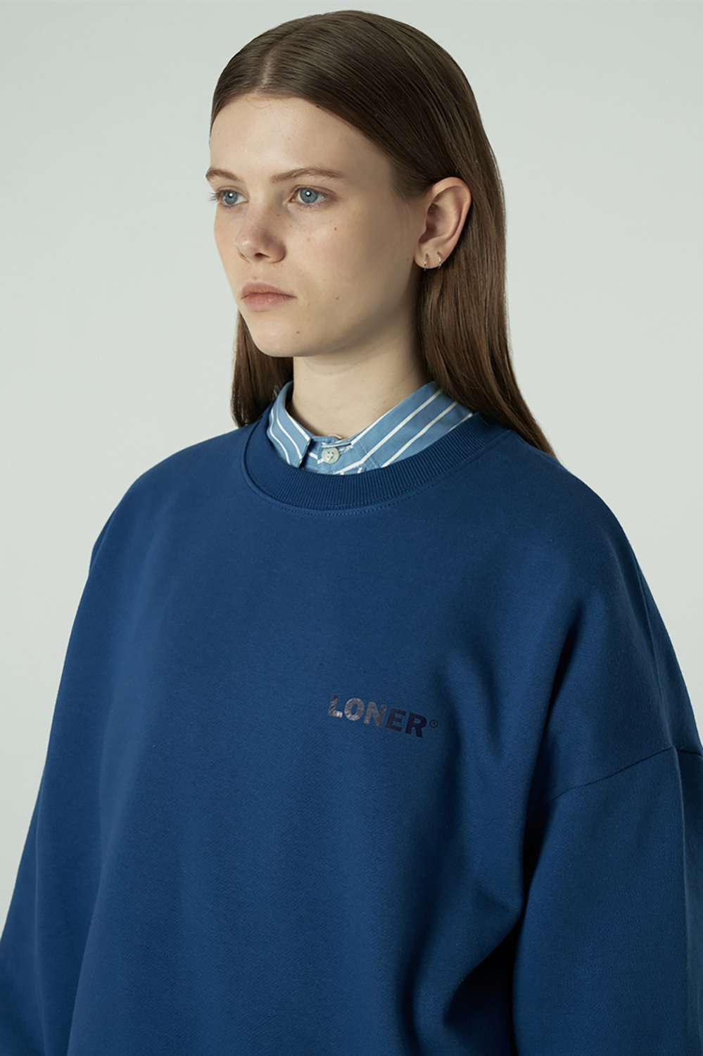[20SS OPEN SALE][L] Basic gmt sweatshirt-blue (기간한정 04.03 - 04.09)