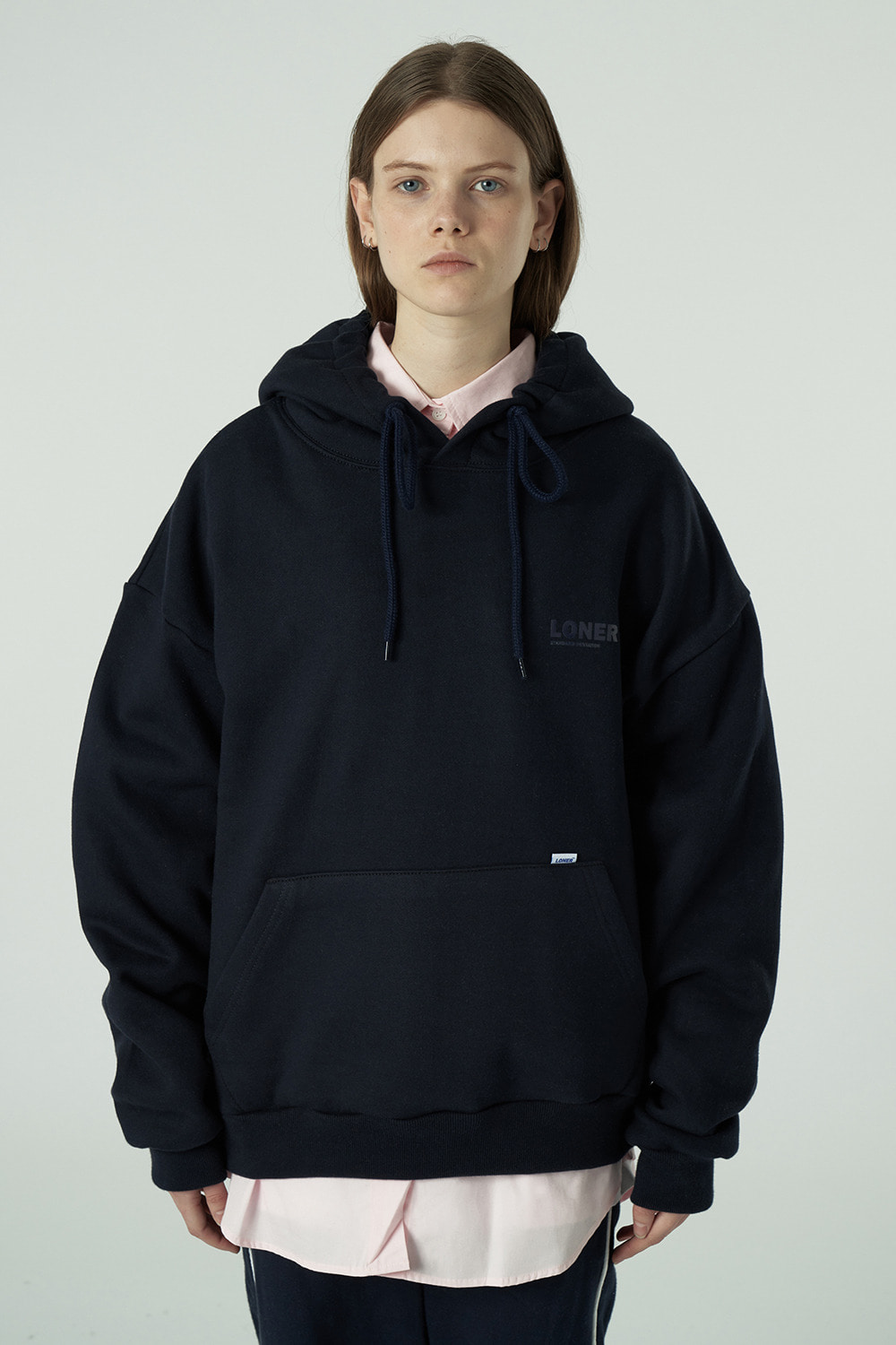 [20SS OPEN SALE][L] Basic gmt hoodie-navy (기간한정 05.15 - 05.21)