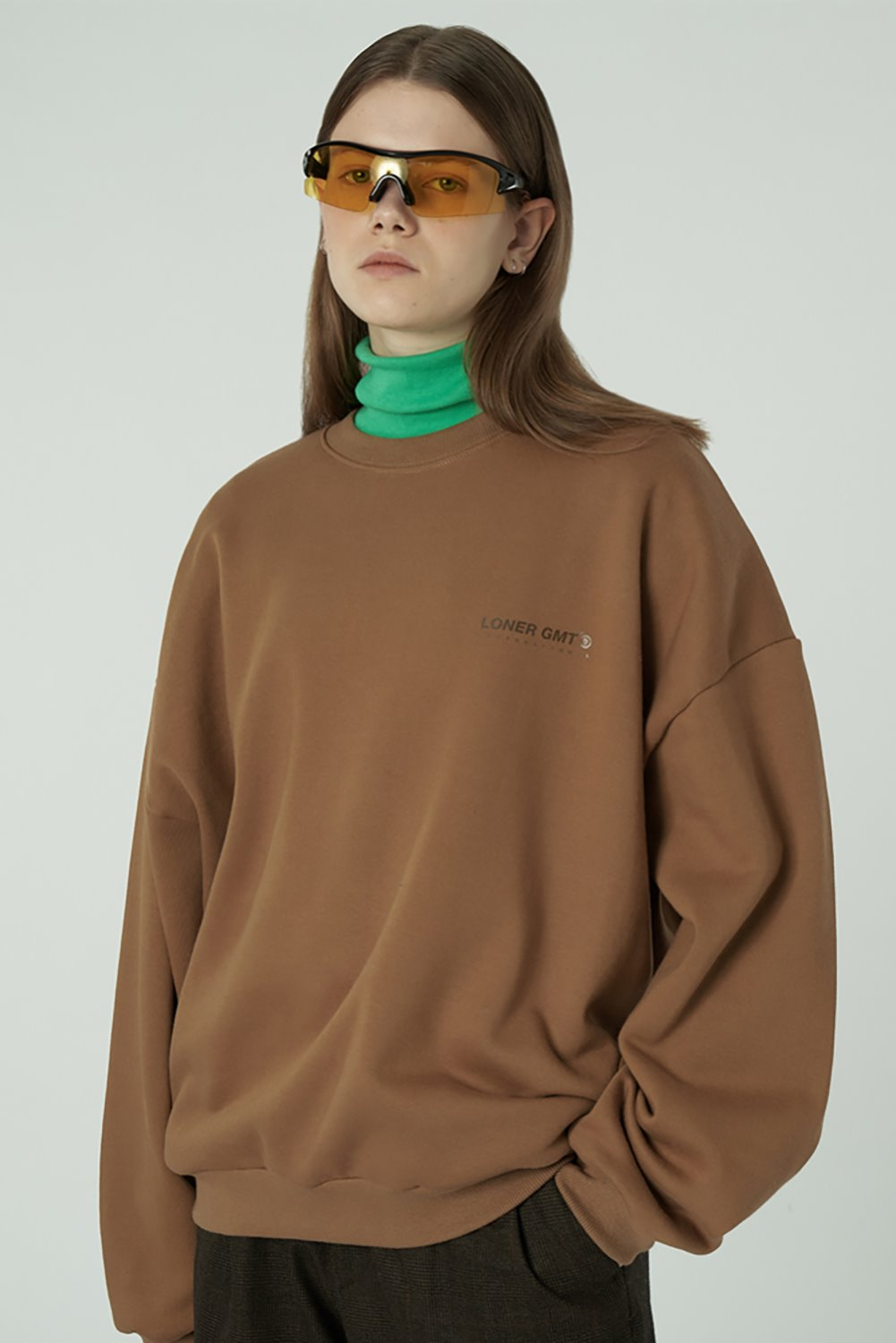 [20SS OPEN SALE][L] Gmt standard sweatshirt-brown (기간한정 02.21 - 02.27)