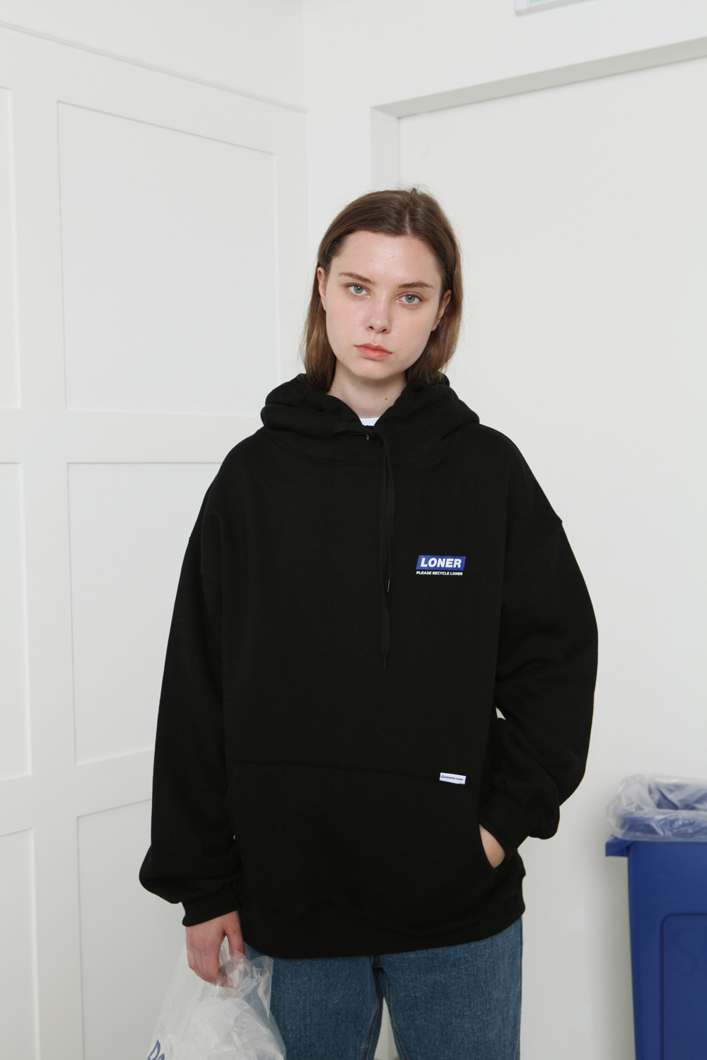 [LONER SEASON OFF SALE] Loner hoodie-black (기간한정 04.03 - 04.09)