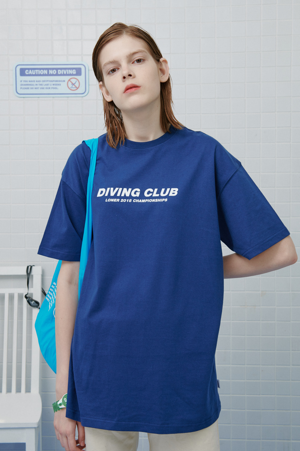 Diving club tshirt-dark blue (기간한정 8.09 - 8.18)