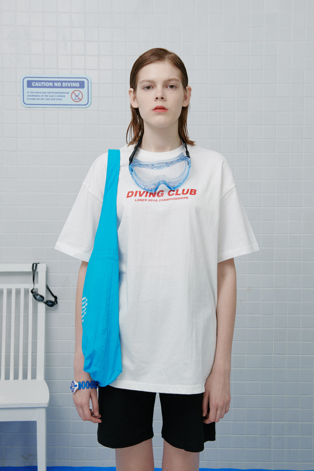 Diving club tshirt-white (기간한정 8.09 - 8.18)