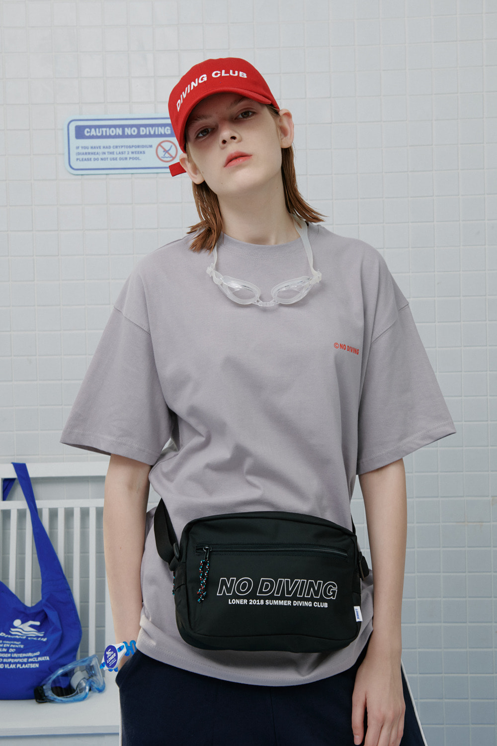 No diving tshirt-gray (기간한정 8.09 - 8.18)