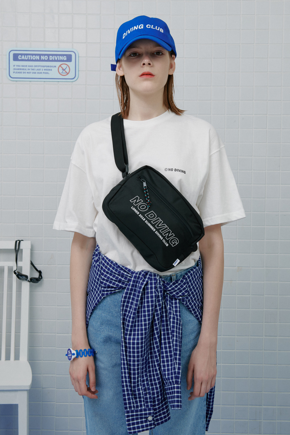 No diving tshirt-white (기간한정 8.09 - 8.18)