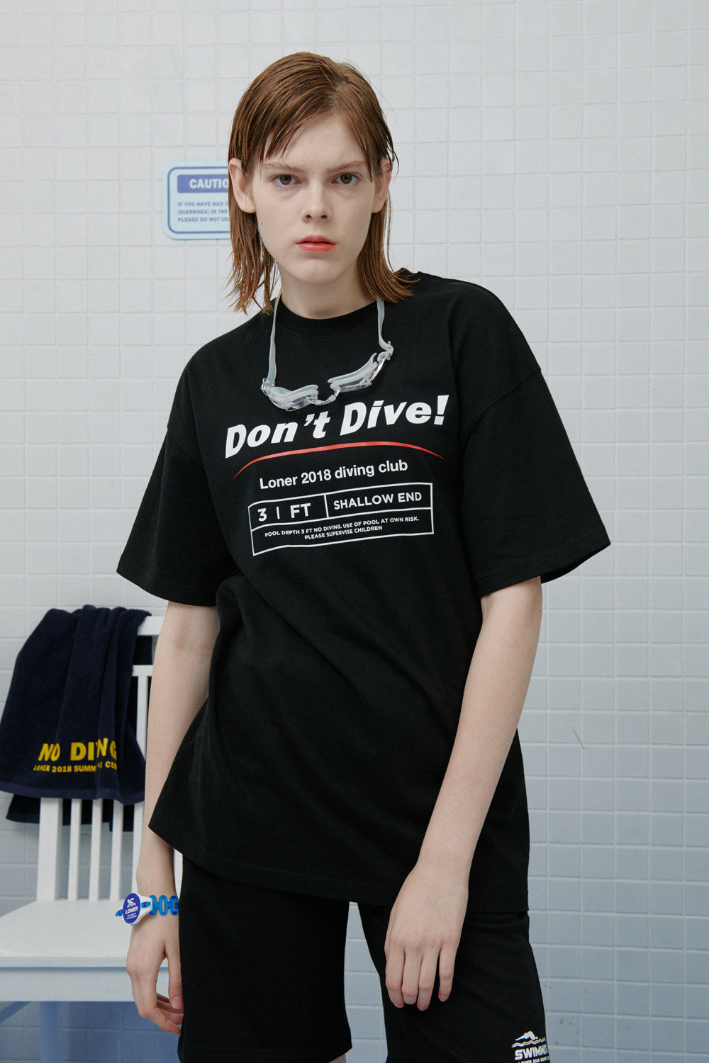 shallow end tshirt-black (기간한정 8.09 - 8.18)
