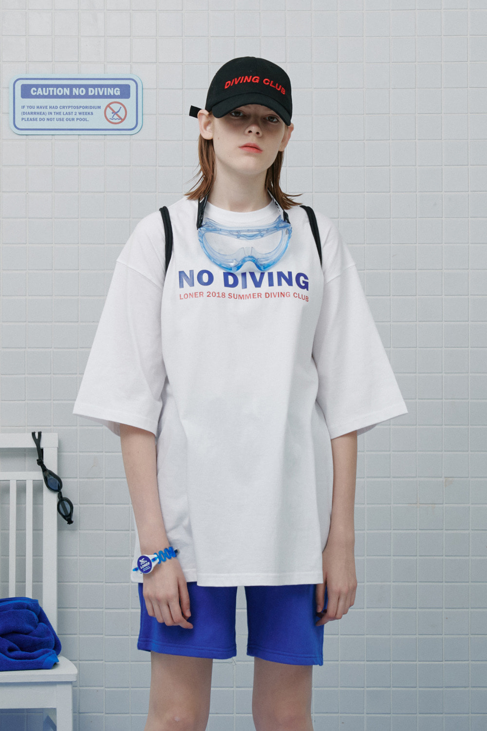 Summer diving club tshirt-white (기간한정 8.09 - 8.18)