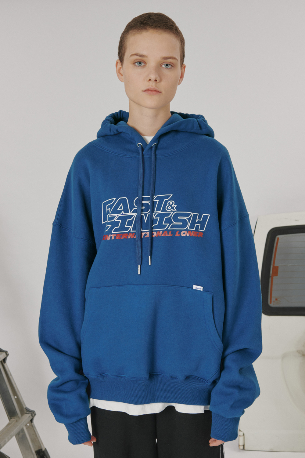 Fast and finish hoodie_blue (기간한정 07.17 - 07.23)